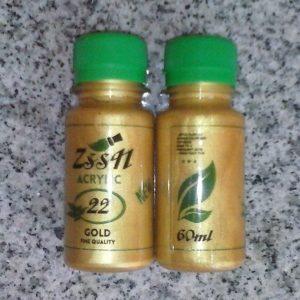 zlatna akrilna boja 60 ml